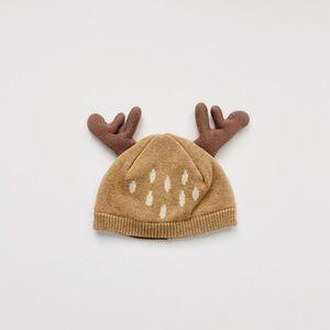Newborn Reindeer / Deer Antler Baby Beanie Hat